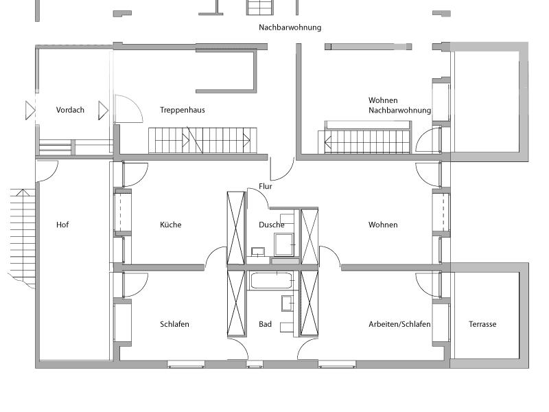schlafzimmer grundriss planen raum und m beldesign inspiration. Black Bedroom Furniture Sets. Home Design Ideas
